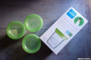 pot de conservation lait maternel Mam-pots